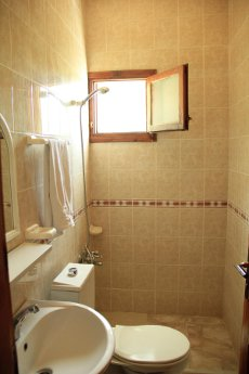 Bathrooms with hot water from the solar energy is available.